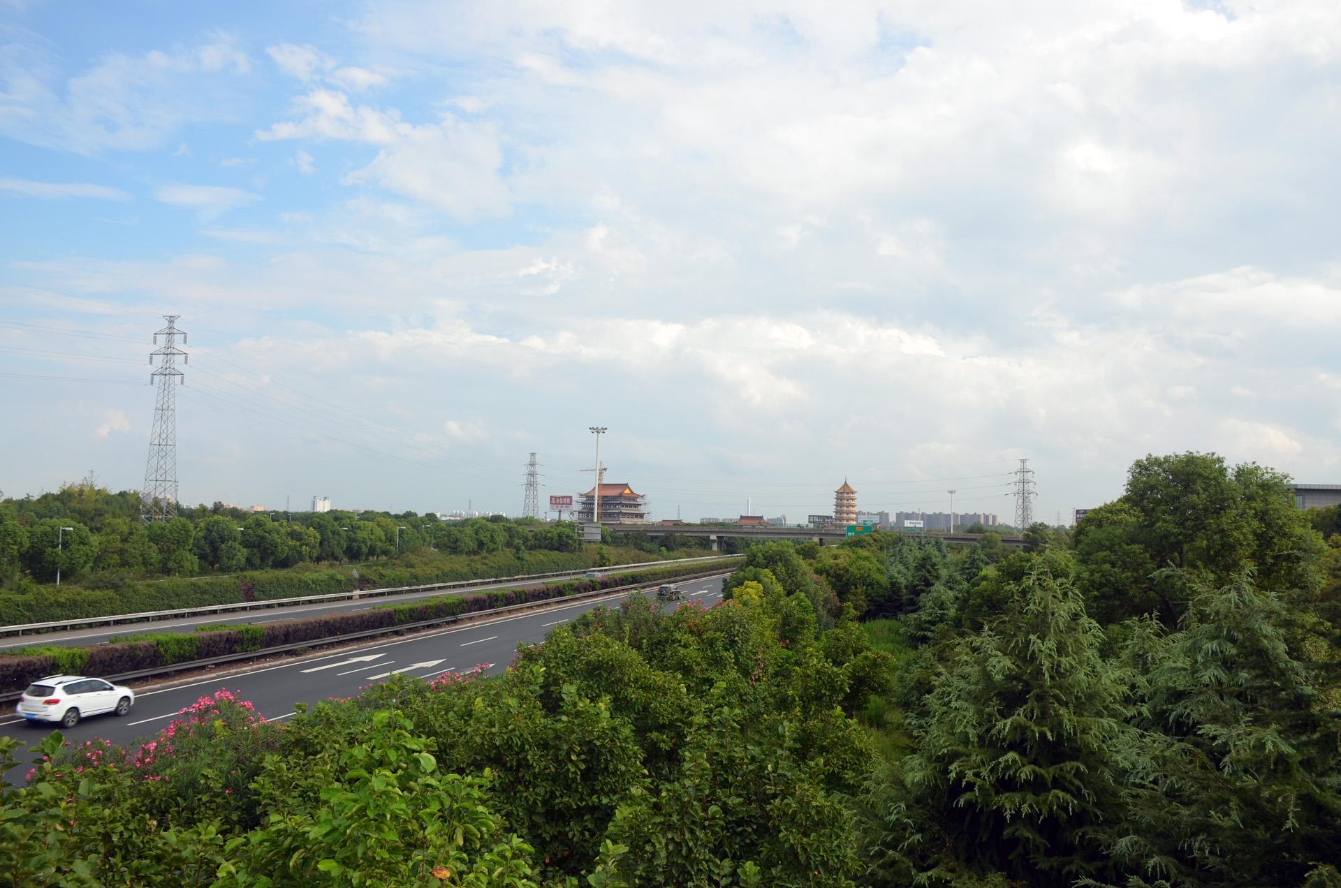 远景多角度太仓海天禅寺红庙的宏伟和江南缥缈正在建设的后殿 这里是太仓 摄影 第4张