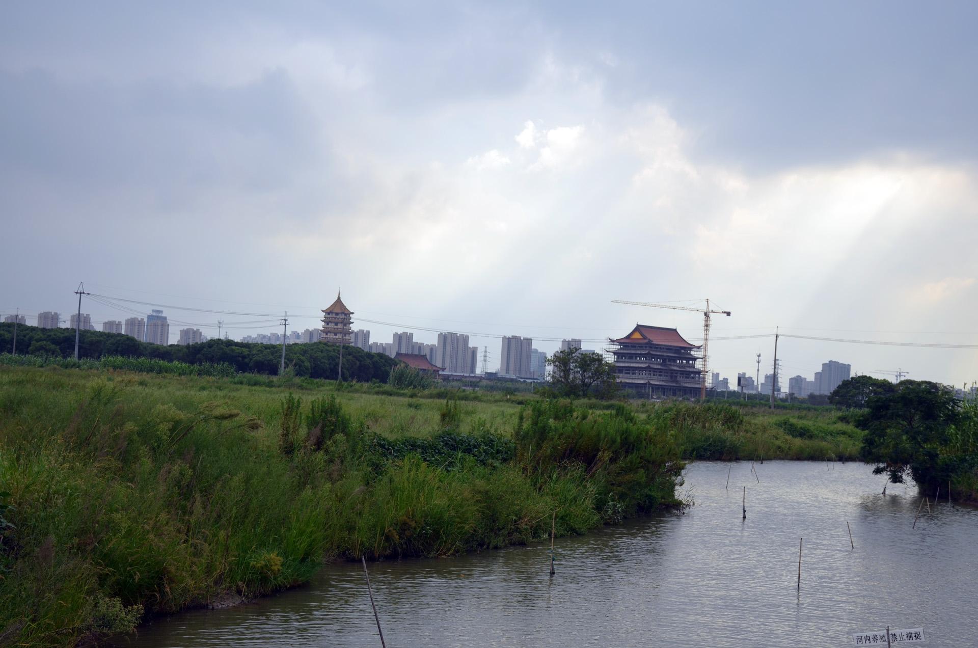 远景多角度太仓海天禅寺红庙的宏伟和江南缥缈正在建设的后殿 这里是太仓 摄影 第8张