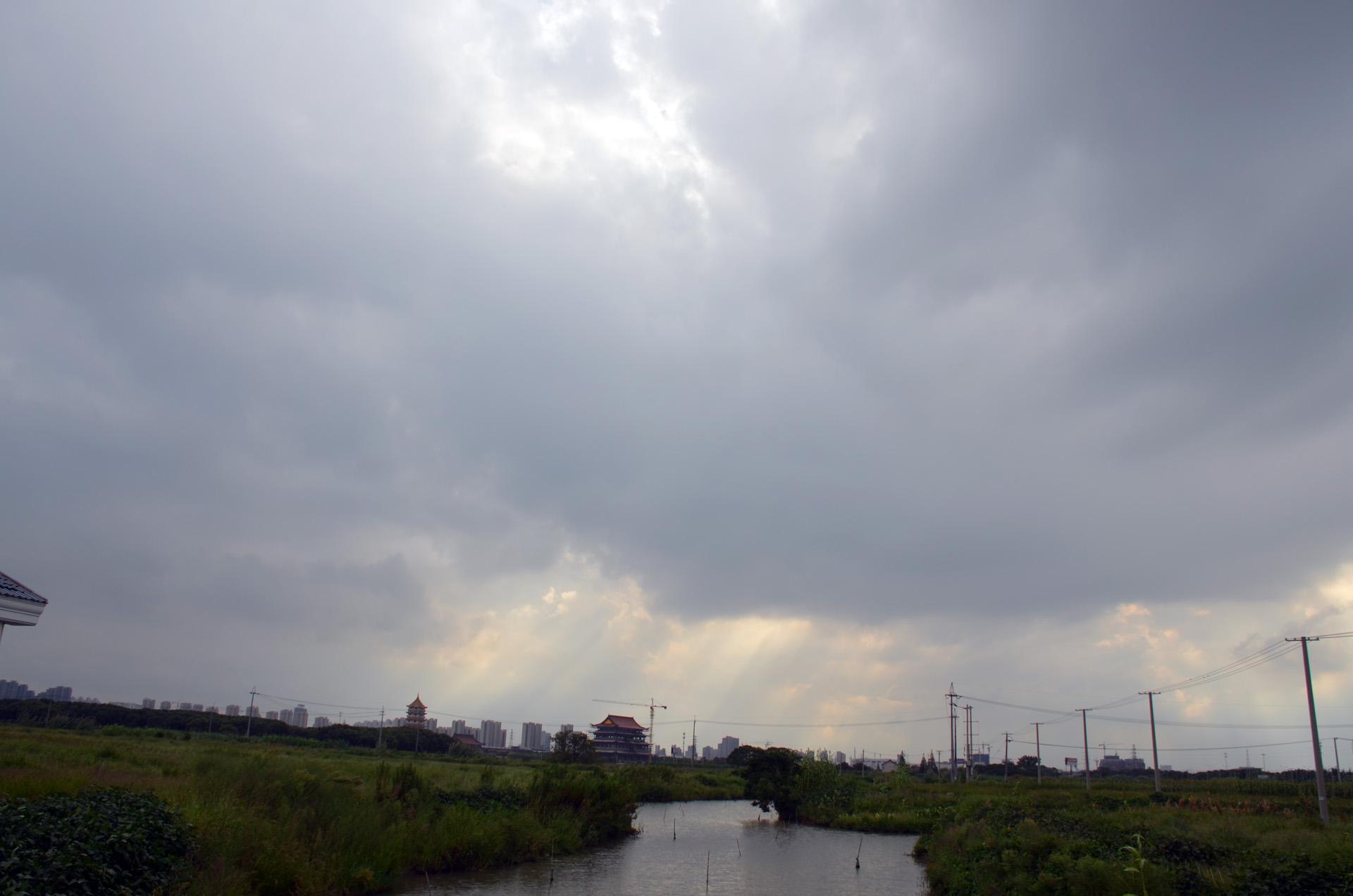 远景多角度太仓海天禅寺红庙的宏伟和江南缥缈正在建设的后殿 这里是太仓 摄影 第9张