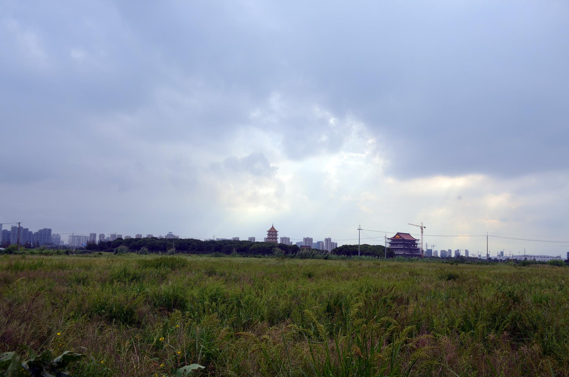 远景多角度太仓海天禅寺红庙的宏伟和江南缥缈正在建设的后殿 这里是太仓 摄影 第19张