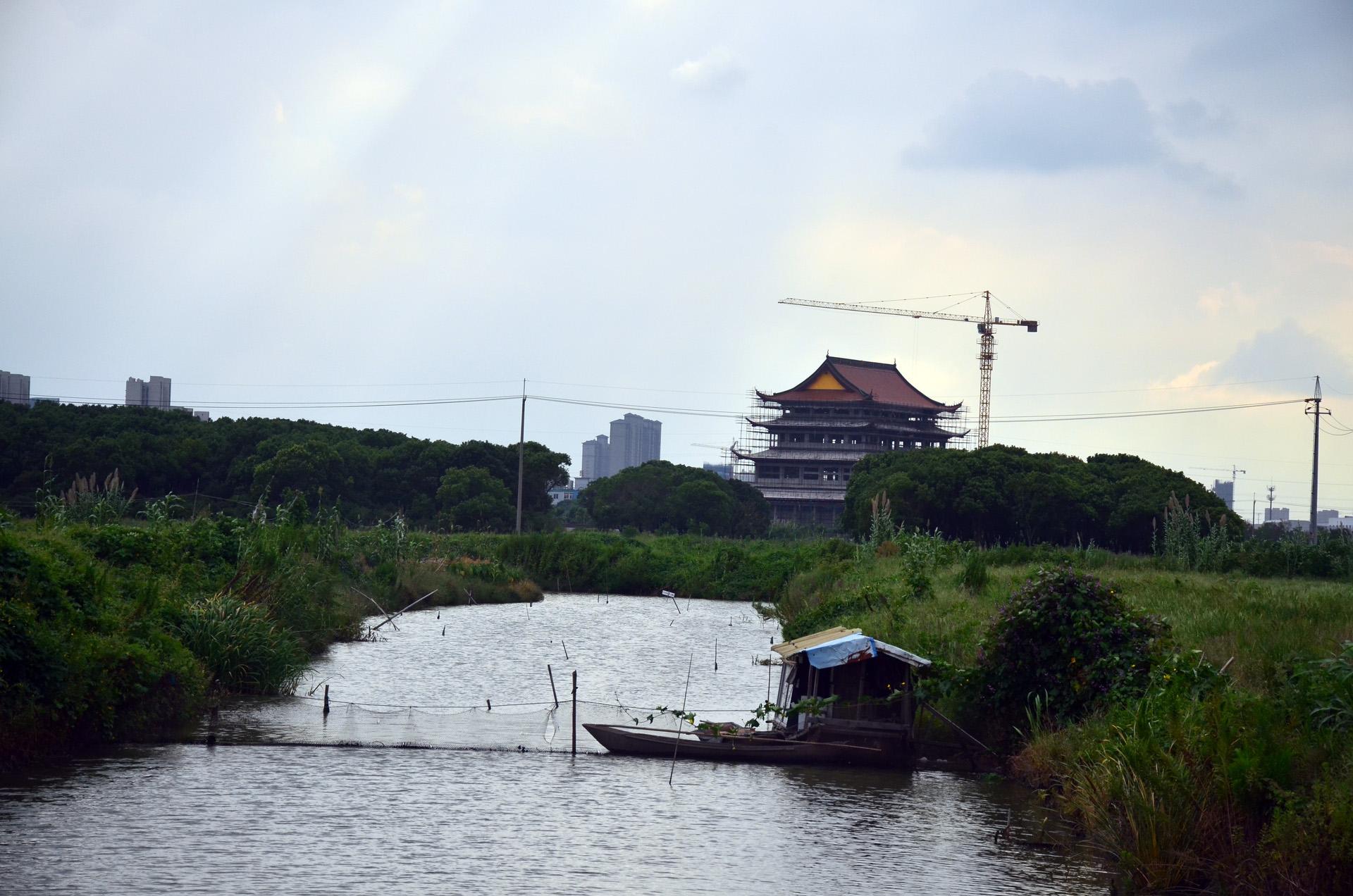 远景多角度太仓海天禅寺红庙的宏伟和江南缥缈正在建设的后殿 这里是太仓 摄影 第20张