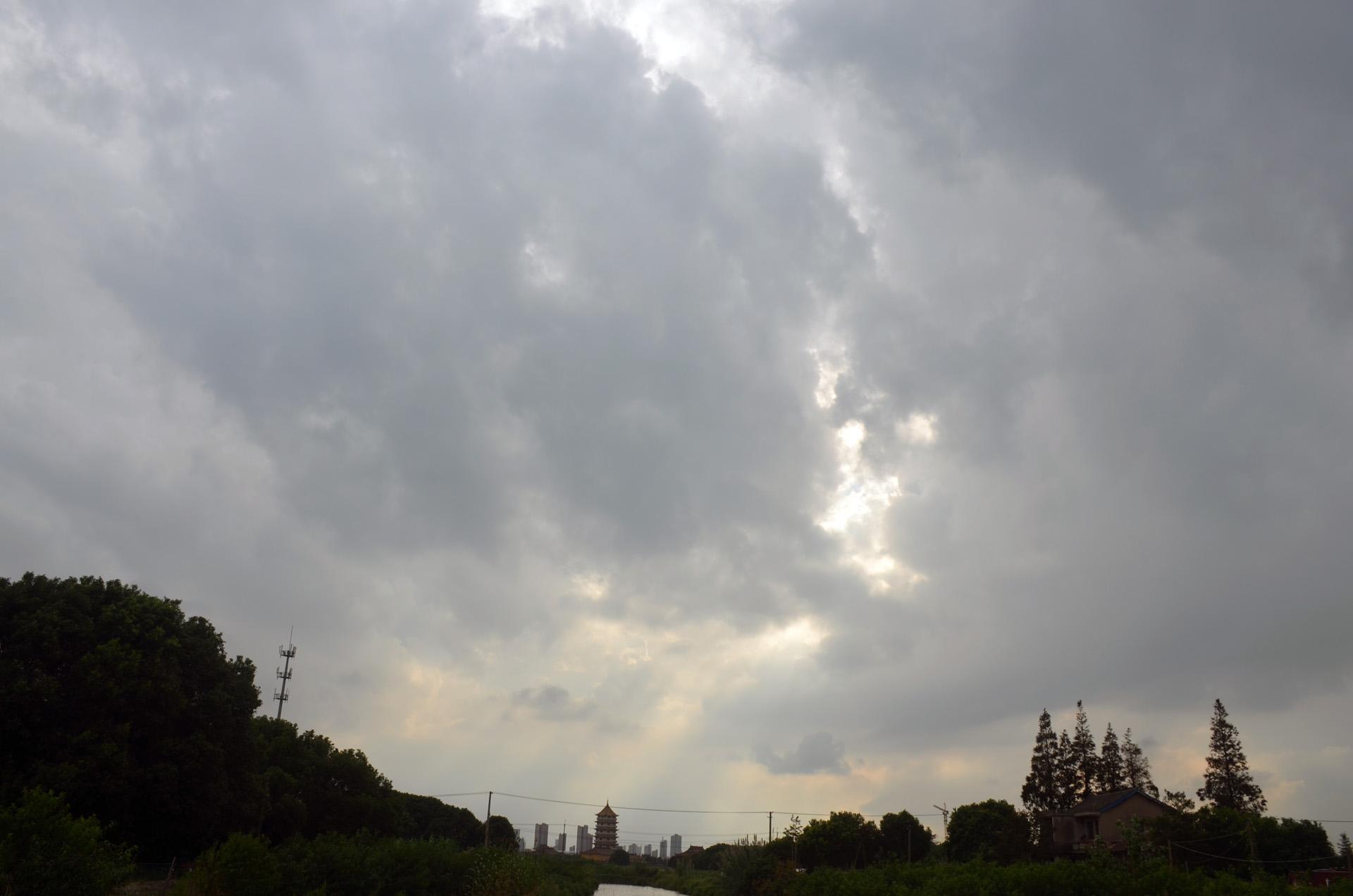 远景多角度太仓海天禅寺红庙的宏伟和江南缥缈正在建设的后殿 这里是太仓 摄影 第27张