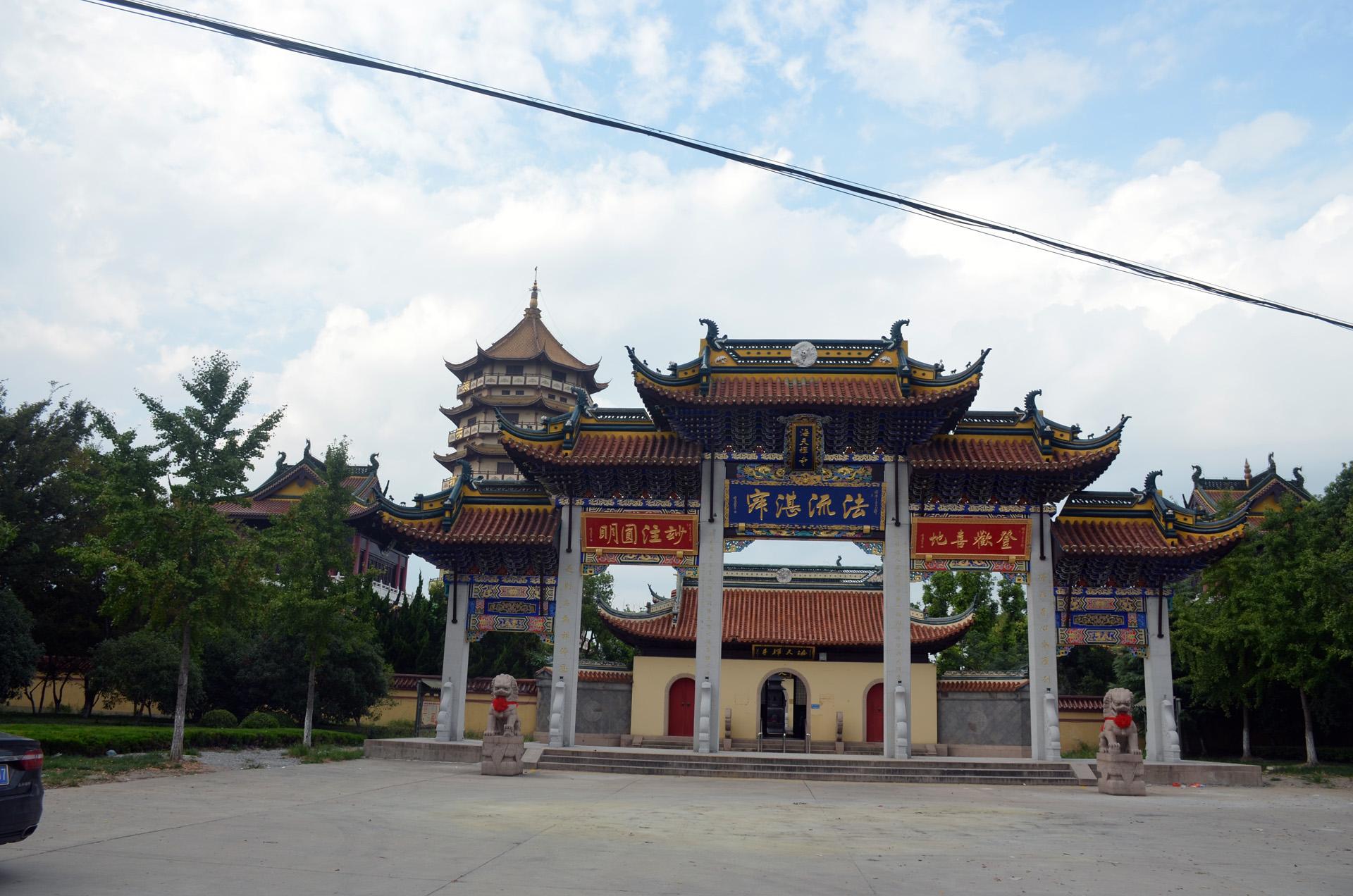 远景多角度太仓海天禅寺红庙的宏伟和江南缥缈正在建设的后殿 这里是太仓 摄影 第31张
