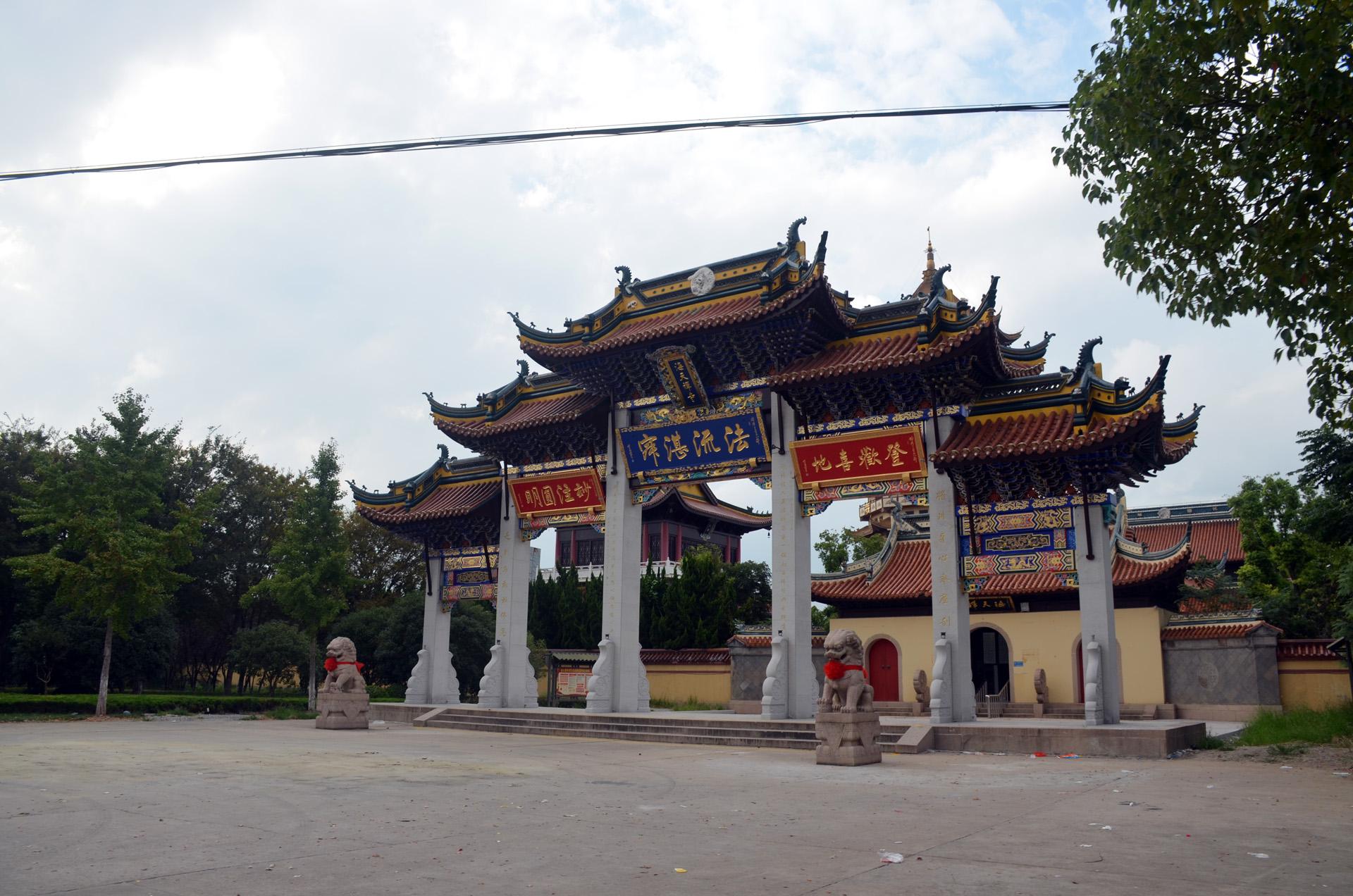 远景多角度太仓海天禅寺红庙的宏伟和江南缥缈正在建设的后殿 这里是太仓 摄影 第32张