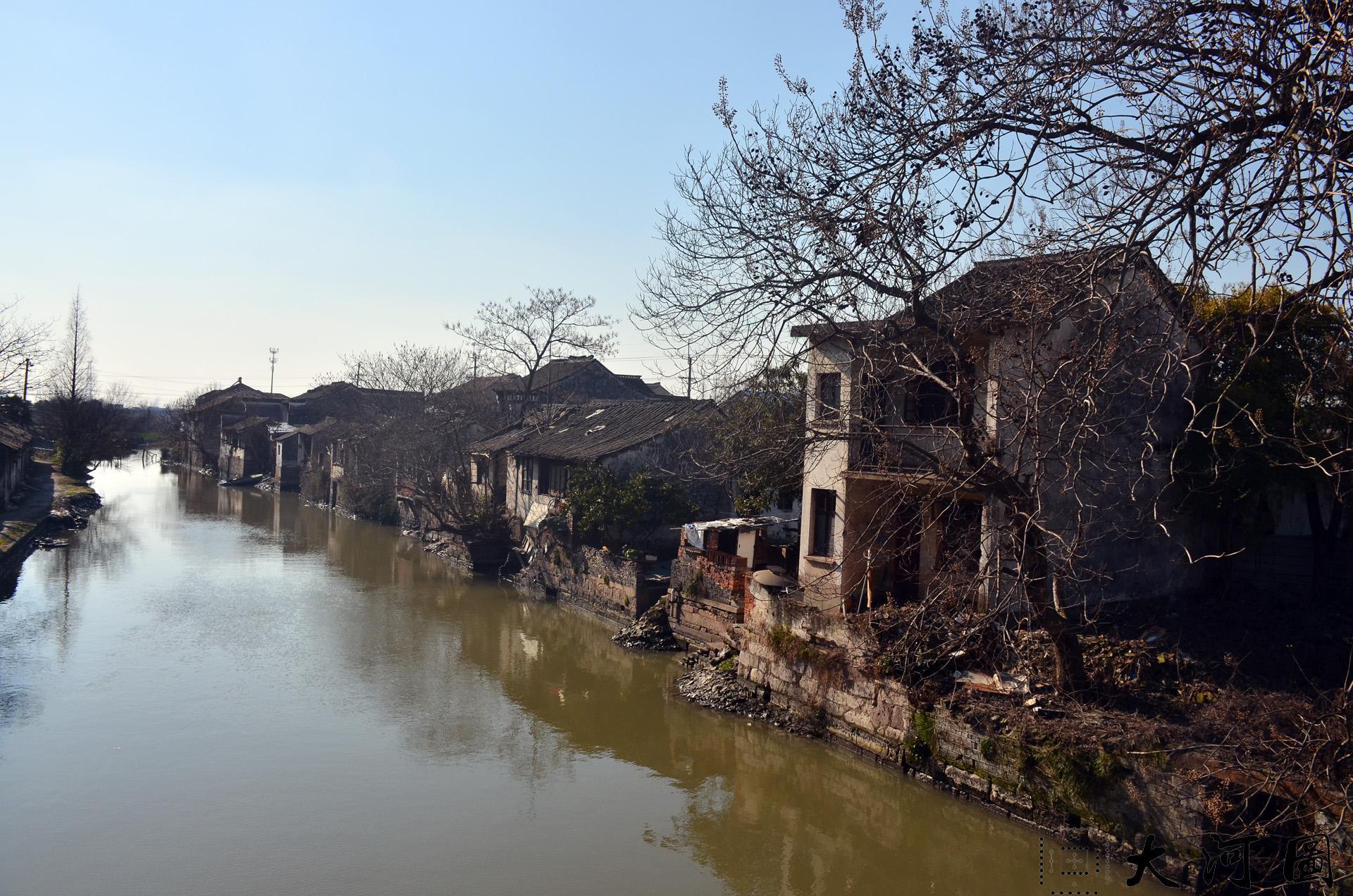 太仓市西郊镇西郊老街东西古街临河而建傍河而居