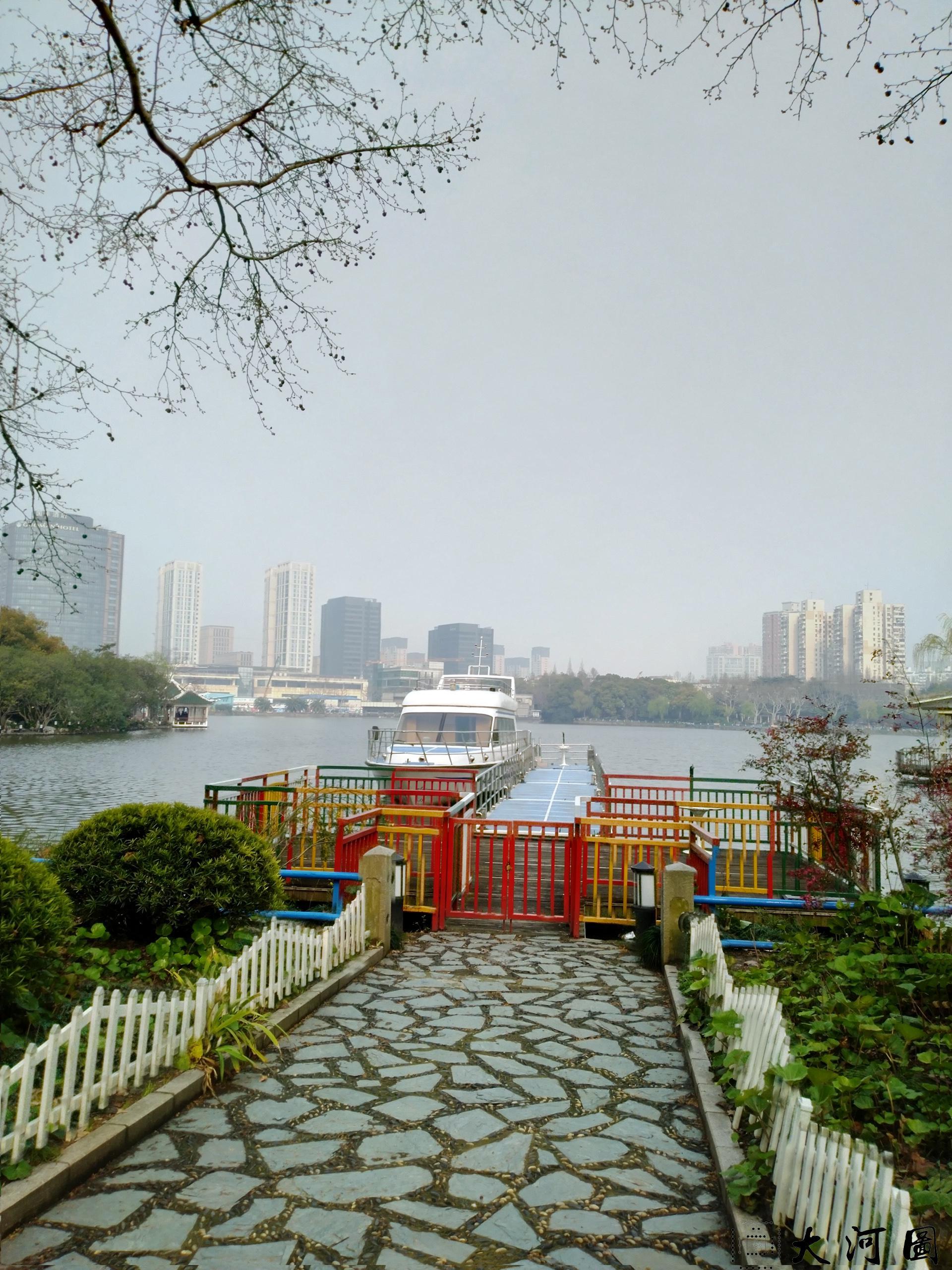 上海长风公园初春之景色幽暗灰沉 摄影 第16张