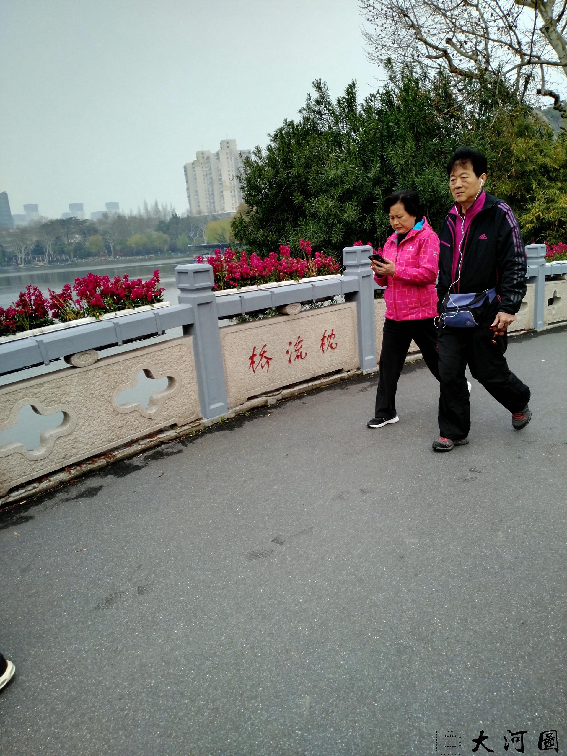 上海长风公园初春之景色幽暗灰沉 摄影 第21张
