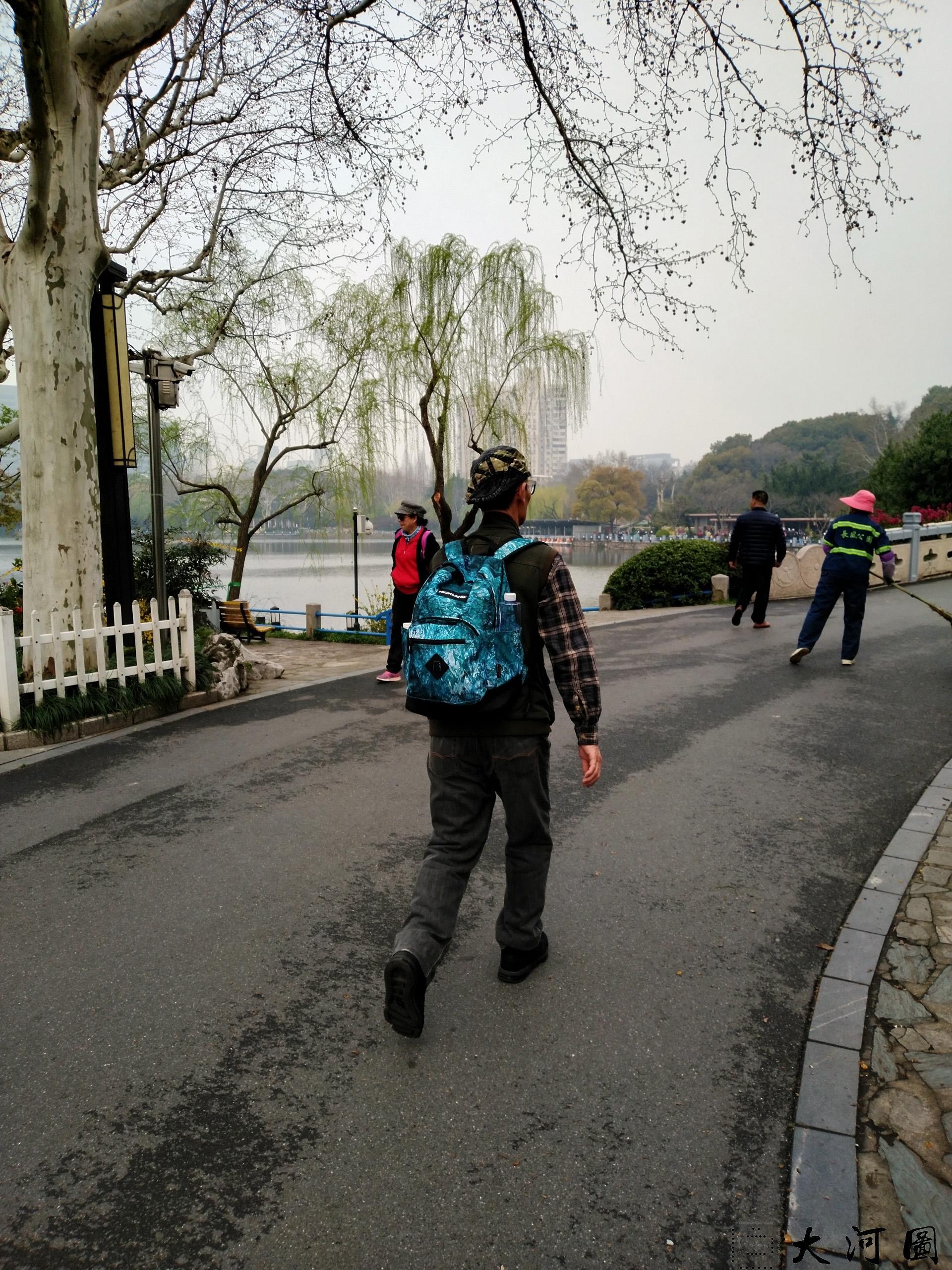 上海长风公园初春之景色幽暗灰沉 摄影 第20张