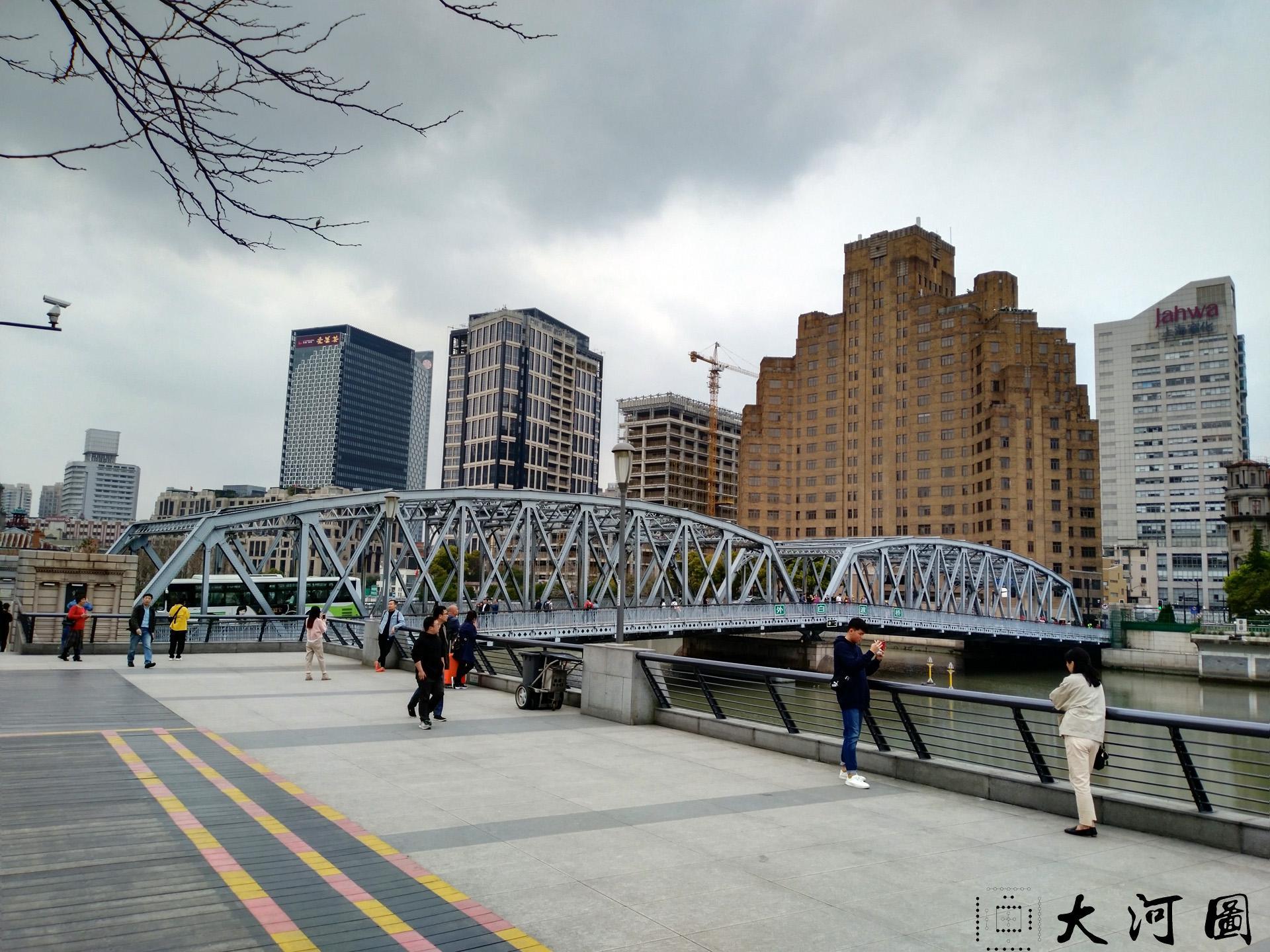 上海外白渡桥英文名称花园桥Garden Bridge of Shanghai 沧桑走过 摄影 第4张