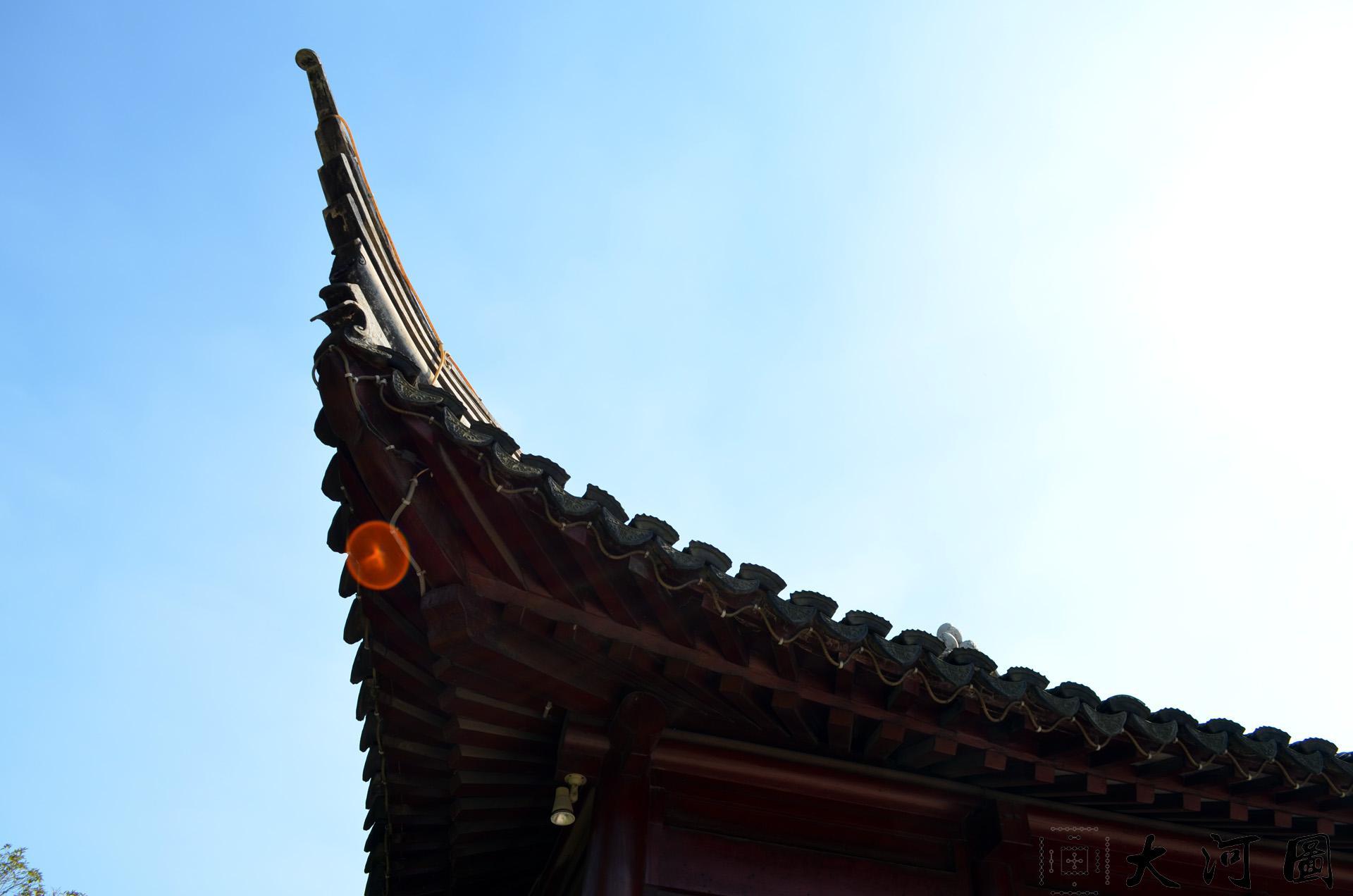 太仓弇山园又名太仓公园夏日风景