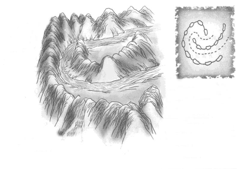禄存峰第九种形态  如落花片片段段 为绝嗣的鬼穴 可以作水口星