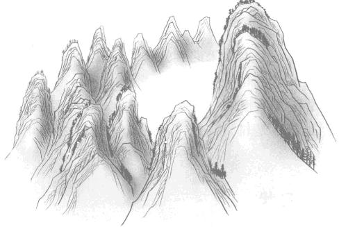 廉贞星峰聚讲山的形状? 寻龙顶上聚讲山分宗拜祖辞楼下殿