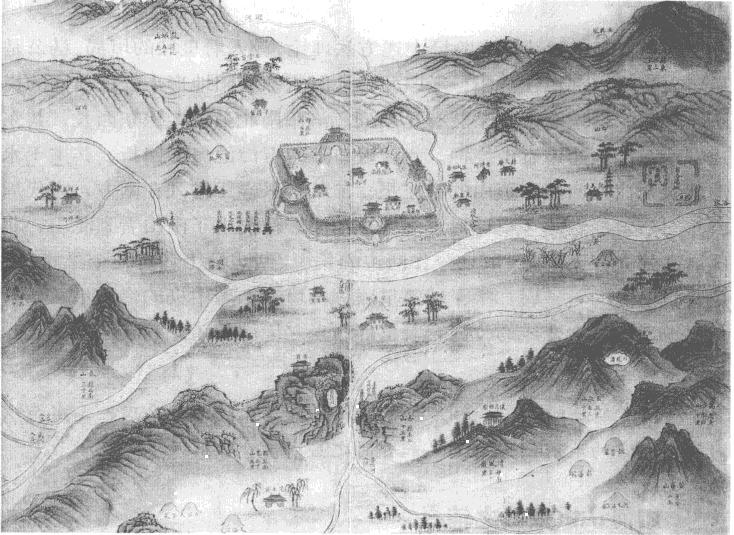 唐洛阳城皇都的地理之形